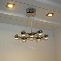 Led spherical light crystal ceiling lamp modern brief fashion pendant lamp bar lights bar lamp