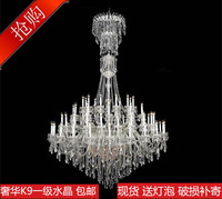 Fashion luxury stair candle crystal pendant light lighting hybrid-type stair pendant light lamps