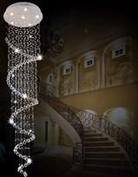 Stair lamp k9 crystal pendant light spiral crystal pendant lamp ceiling light living room lights