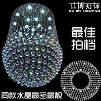 Lighting living room lamps crystal pendant light modern crystal lighting brief led ball lamp