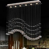 Lamps modern brief wavy crystal lamp living room lights bar lamp restaurant lamp pendant light