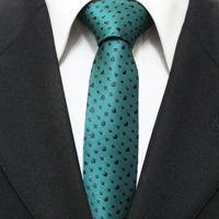 Mens Heart Pattern Novelty Neck Ties For Men Slim Casual Gents Popular Green With Black Neckties For Man Gravatas 5CM F5-O-7