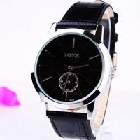 New 2014  Fashion Bright Leather Strap Watches ,man Quartz Dress Watch,free shipping 168269