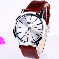 New 2014  Fashion Bright Leather Strap Watches ,man Quartz Dress Watch,free shipping 168271