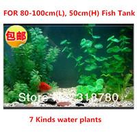 NEW 7 Kinds Plastic Aquarium Water Plants Fish Tank Grass Ornament Landscape Green Artificial Plants Decoration