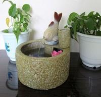 Ceramic water fountain decoration desktop decoration humidifier fountain ball wheel basin