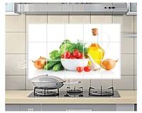 Smoke fruit oil paste wall stickers kitchen tile aluminum oil