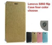 SG POST free shipping lenovo S860 leather PU flip Case with adjustable Bracket fucnton with one protect flim gift