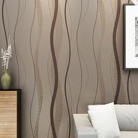 Striped Wall Paper Super-fibre Non-woven Wallpaper Waterproof TV Background Home Decor Wall Coverings papel de parede roll