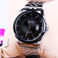 Fashion Stainless steel Strap Quartz Men luminous watch  ,Men Dress Wrist watch with Calendar Date , 30M Waterproof  167865