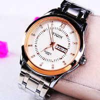 Fashion Stainless steel Strap Quartz Men luminous watch  ,Men Dress Wrist watch with Calendar Date , 30M Waterproof  167866