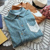 Women casual blouse shirt ladies blouses & Shirts vintage blusas femininas work wear female Floral Spring 2014 New arrive