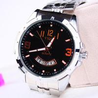 Fashion Stainless steel Strap Quartz Men luminous watch  ,Men Dress Wrist watch with Calendar Date , 30M Waterproof  167861