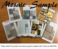 Glass stone mosaic tile Stainless steel metallic mosaic kitchen wall tiles swimming pool tile bathroom mosaic tiles
