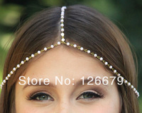 2014 Europe and America Hot Sale Fashion Handmade Beaded Hair Jewelry Head Chain Pieces Headdress for Girls