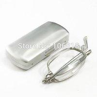 Silver Full Frame Clear Lens Pocket Folding Foldable Fold +2.00 Reading Glasses + Free Protective Case Men Women