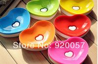Soulmate love soap dish soap box plastic heart-shaped soap box toiletries