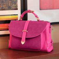 Fashion female bags 2014 spring nubuck leather portable small fresh genuine leather cross-body bag