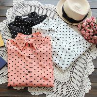 2014 Brand style women Blouses & Shirts ladies spring blouses with polka dot fashion cloth roupas femininas work wear female top