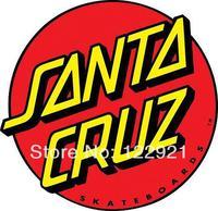 High Quality OEM Skateboard skate Brand Santa Cruz Logo 100% Cotton Print Casual Fashion Loose T-shirt Tee Camiseta Dress Cloth