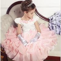 Hot girls dress princess dress children's New Year color tutu dress cake dress Quality Assurance
