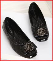 2014 Spring new star style casual flat heel women shoes bow metal logo sweet women flats luxury brand big plus size 40 41 42