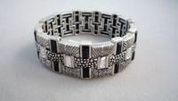 Bracelet classical modern perfect vintage silver crystal interspersion