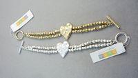 Bracelet bohm vintage gold and silver two-color quality