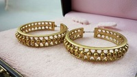Earrings vintage gold super quality exquisite cutout quality 140109 026 03