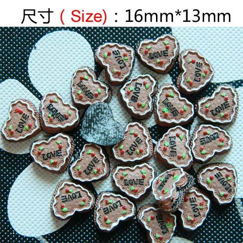 Popular flat bottom diy resin of love shape cream cake milk Chocolate mobile phone nail art DIY Accessory by 30pcs/lot(China (Mainland))