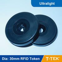 Dia: 30mm ABS RFID Token Tag, RFID Disc Tag, RFID Tag, RFID Patrol tag, Patrol tag Ultralight Chip free shipping