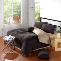 Classic Pure color Plain Mixed colors 100%cotton  Bedding Set/ Duvet Cover Bedding Sheet Bedspread Pillowcase Dark light coffee