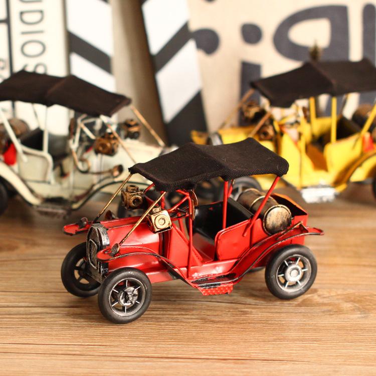 Handmade Antique Metal Car Model Classic Car Metal Craft Gift Home Bar Cafe Decoration Kids Toy(China (Mainland))