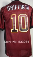 Free Shipping,Cheap,#10 Robert Griffin III Men's Red 2014 new Drift American Football Jerseys Sale Embroidery Logos wholesale