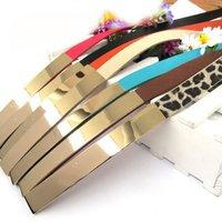 2014 Fashion Chic Metallic Bling Gold Mirror Skinny Wide Obi Belt Corset Waist belt