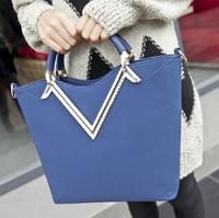 New 2014 women  fashion scrub vintage genuine leather big bag fashion female bags handbag
