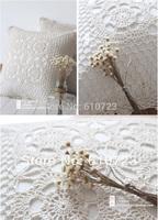 whole sale,Zakka fresh vintage and elegant handmade line crochet 100% cotton fabric cushion home pillow