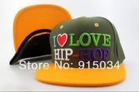 Free shipping I LOVE HIP-HOP snapback cap dropshipping baseball cap brand bone
