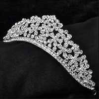Free shipping flower bridal crown wedding tiara Bridal Wedding crystal Hairbands Party Prom Jewelry wholesale