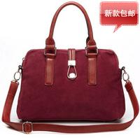 New 2014 women's fashion handbag fashion vintage genuine leather  shoulder cross-body bag big nubuck leather women's lockbutton