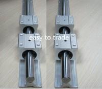 2pcs SBR25-900mm 25mm FULLY SUPPORTED LINEAR RAIL SHAFT & 4SBR25UU Bearing Blocks