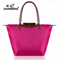 Original Designer Gnuine Leather Bags Folding plastic Women Handbag /Shopping Hand Bag/Casual Nylon shoulder tote