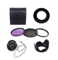 67MMUV CPL FLD Filter Set Accessory Lens Hood for Canon PowerShot SX40 SX50 HS