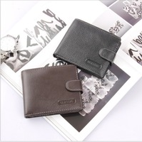 Free Shipping!New  High Quality Men Wallet Genuine Leather 2 colors Short Fashion Men  Purses Wallets  C3202