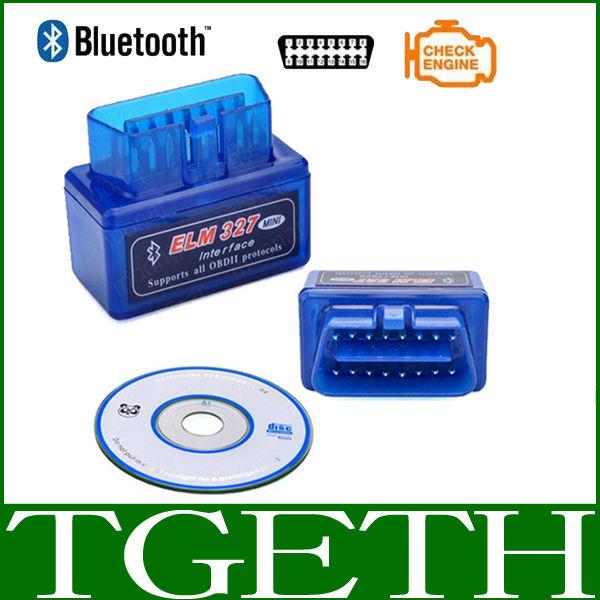 2014 Latest version Super Mini Elm327 Bluetooth V2.1 OBD2 Scanner Smart Car Diagnostic works on Android Windows Symbian(China (Mainland)