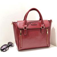 2014 new European and American fashion new dual handbag women vertical zipper portable shoulder diagonal belt a generation fat