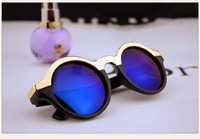 2013 trend fashion vintage sunglasses female fashion sunglasses big circular frame sunglasses