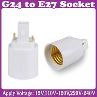 G24 to E27 Socket LED Halogen CFL Light Base Converter Extend Adapter 3 pcs/Lot