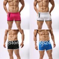 4 PCS / LOTS NEW Men's Boy's Sexy Swimming Shorts/trunks Swimwear Boxers Briefs Low Rise Underwear Size M / L
