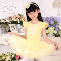 1191 split dance female child leotard dance clothes 100% cotton yarn culottes twinset